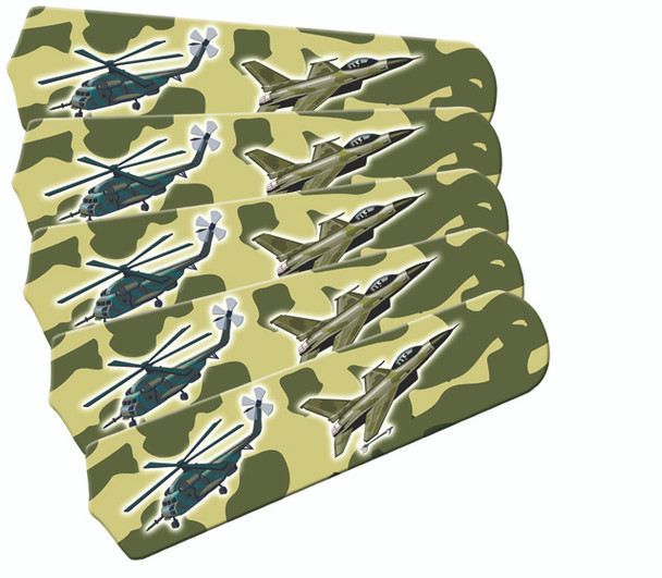 "Freedom Camo Military 52"" Ceiling Fan Blades Only 1"