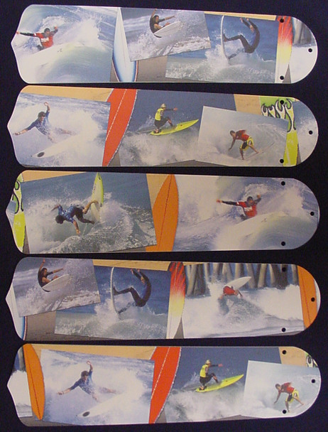 """Radical Surfing Surf Waves 52"""" Ceiling Fan Blades Only 1"""