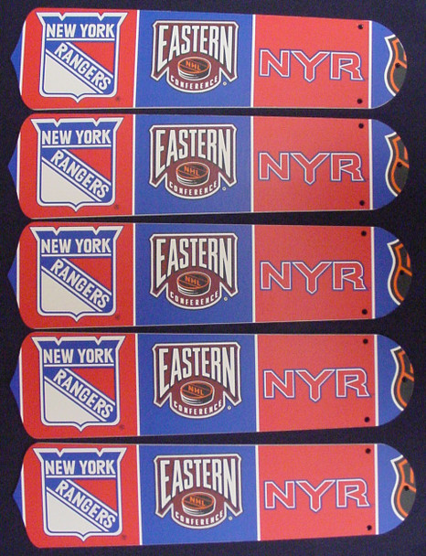 """NHL New York Rangers 52"""" Ceiling Fan Blades Only 1"""