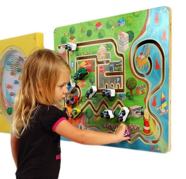 City Transportation Wall Panel Toy Girl