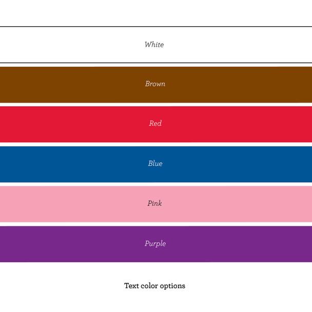 Expressions Espresso Bookrack - Font Colors