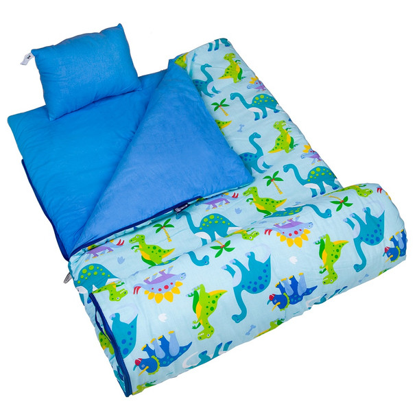 Wildkin Olive Kids Dinosaur Land Original Sleeping Bag