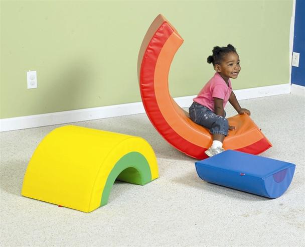 Children's Factory Rainbow Arch Trio Soft Climber