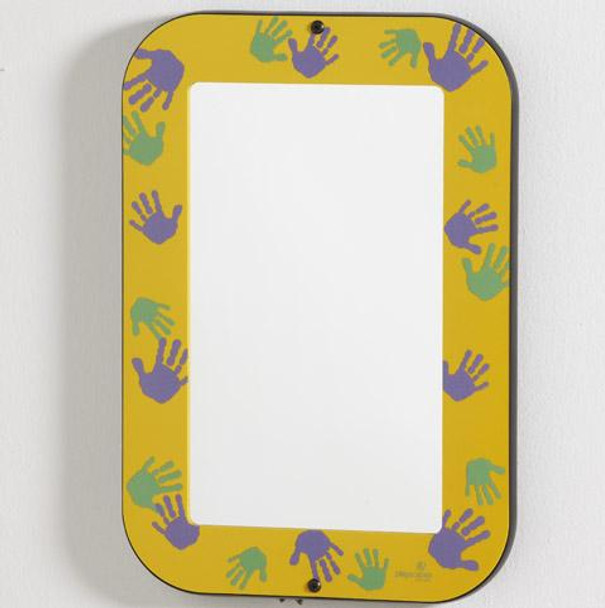 Hands On Wall Mirror Goldenrod