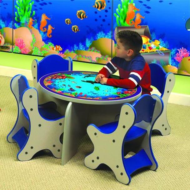 Seascape Kids 5 Piece Table & Chairs Set