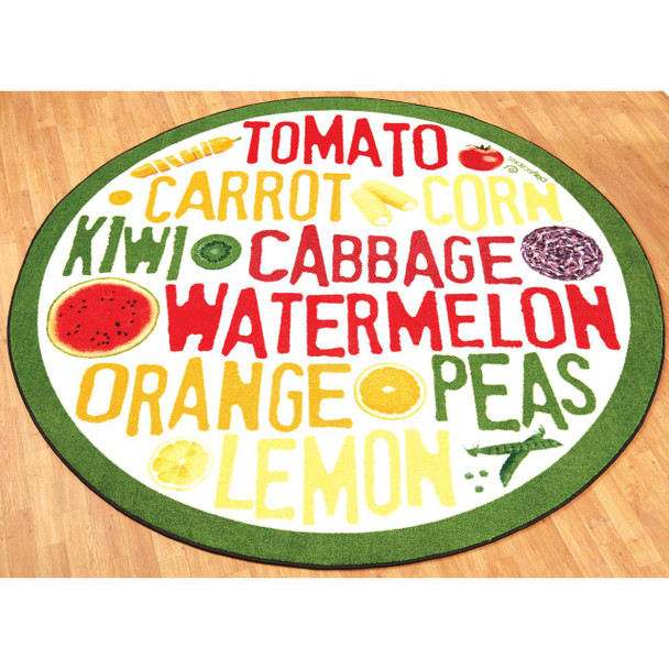 Playscapes Fruit & Veggie Kids Area Carpet