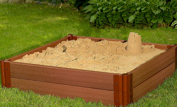 "4' x 4' x 11"" Square Sandbox Kit 2"
