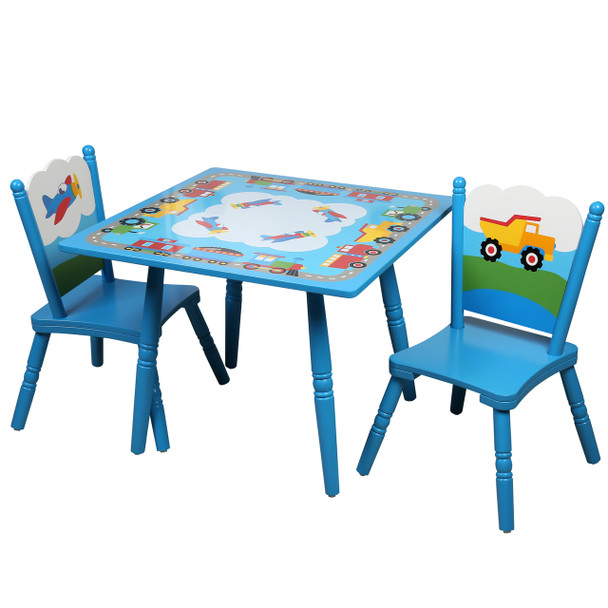 Trains, Planes, Trucks Tables and Chairs