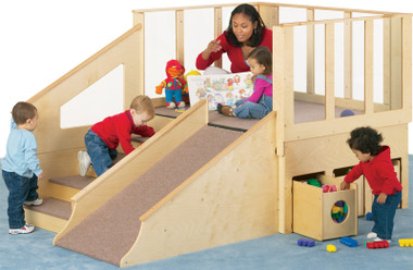 Jonti Craft Tiny Tots Loft Indoor Wooden Playground For