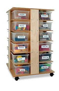 Whitney Brother Preschool Cubby Tower Art Storage Furniture