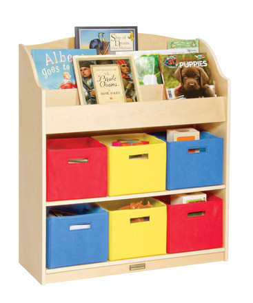storage for toys guidecraft book and bin storage 12304