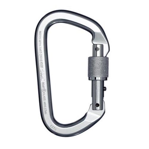 SMC Locking D Alum Carabiner (Silver)