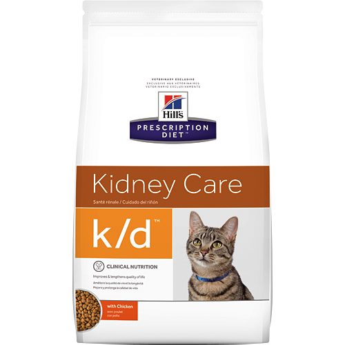 Hills  k/d Kidney Care Feline with Chicken - Dry 4 Lb.