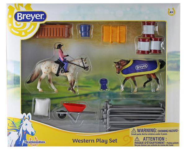 Breyer Stablemates Western Play Set Breyer Horses