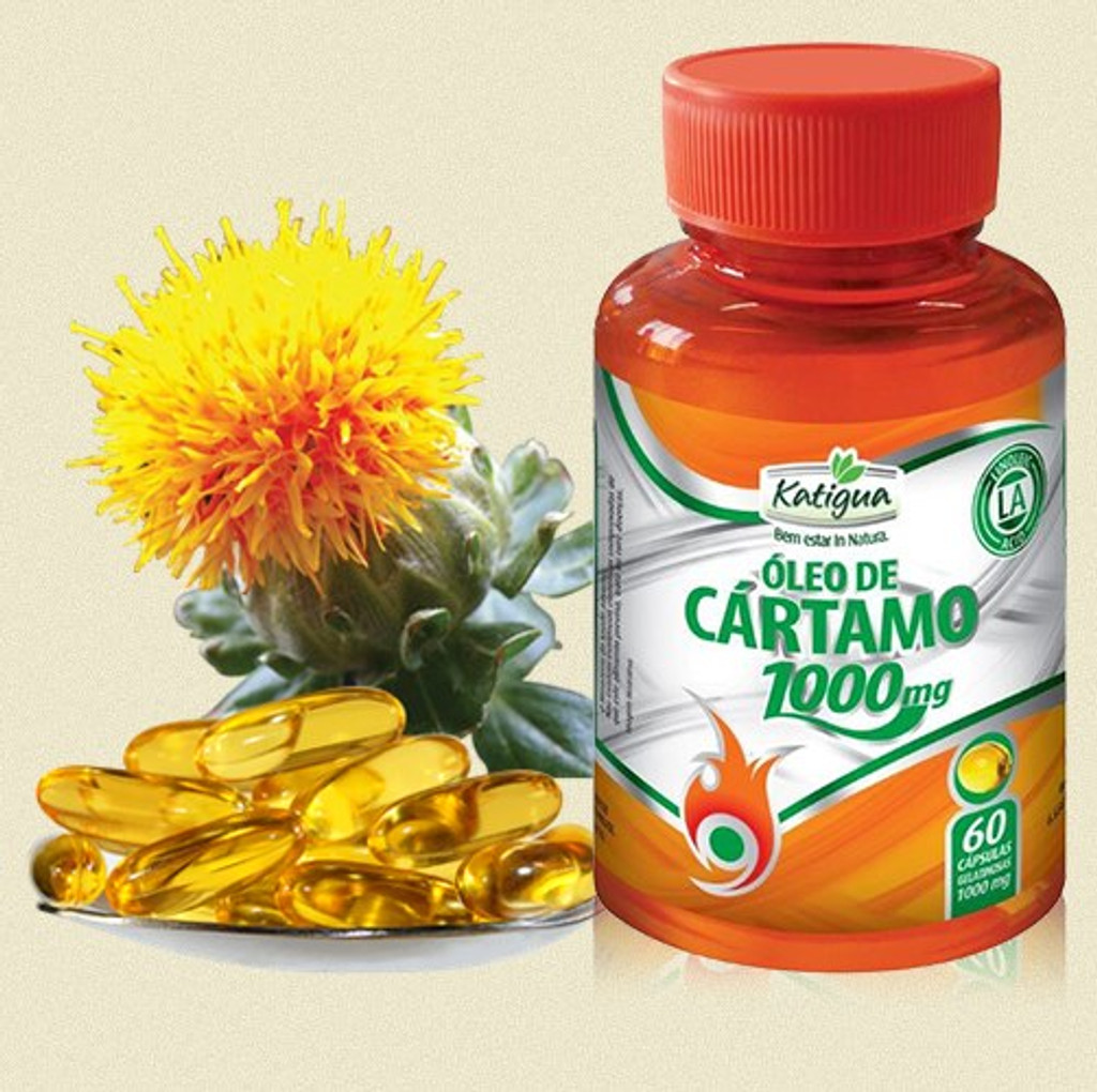 Oleo de Cartamo 1000mg - Katigua - 120cps