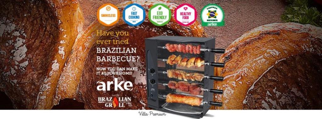 GRILL-BY-ARKE-BRASIL-BARBECUE 5-SKEWER-ROTISSERIE-G