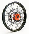 KTM 950/990 Adv Front Wheel Orange Hub Black Rim Black Spokes Silver Nipples