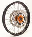 KTM 950/990 Adv Front Wheel Orange Hub Black Rim Silver Spokes Silver Nipples