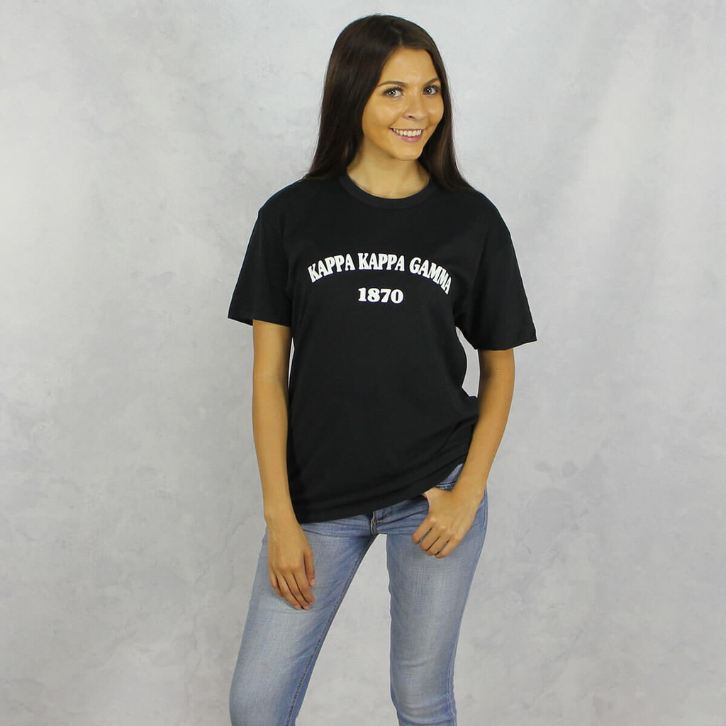Kappa Kappa Gamma Short Sleeve T-Shirt in Black