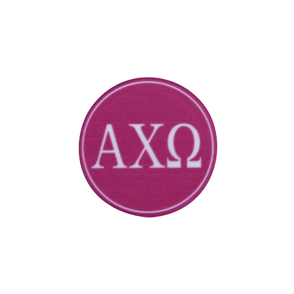 Alpha Chi Omega Phone Grip in Hot Pink Top