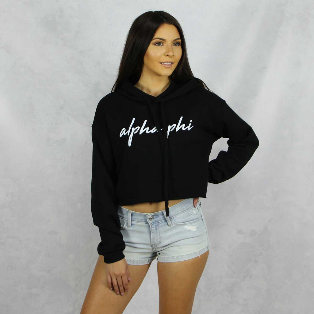 Alpha Phi Cropped Hoodie