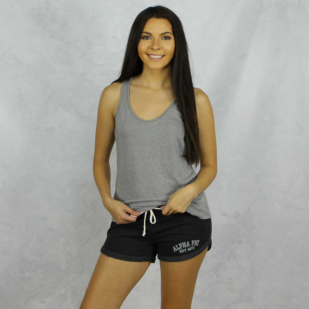 Alpha Phi Shorts in Charcoal