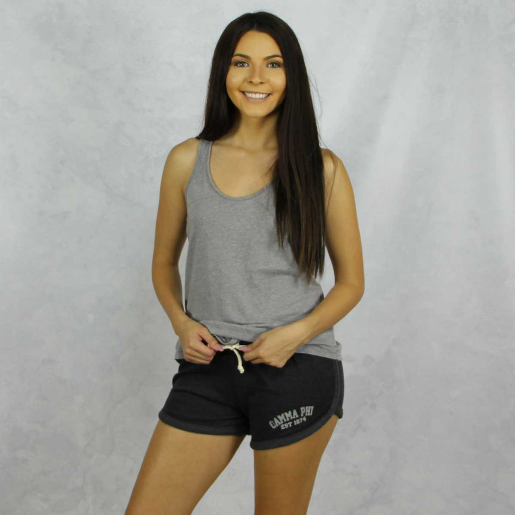 Gamma Phi Beta Shorts in Charcoal