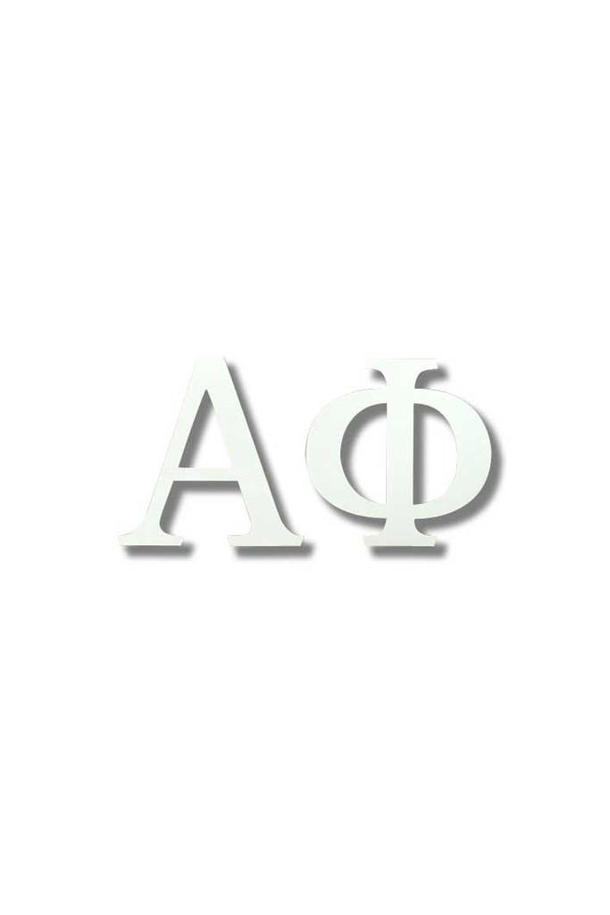 Alpha Phi White Letter Sticker