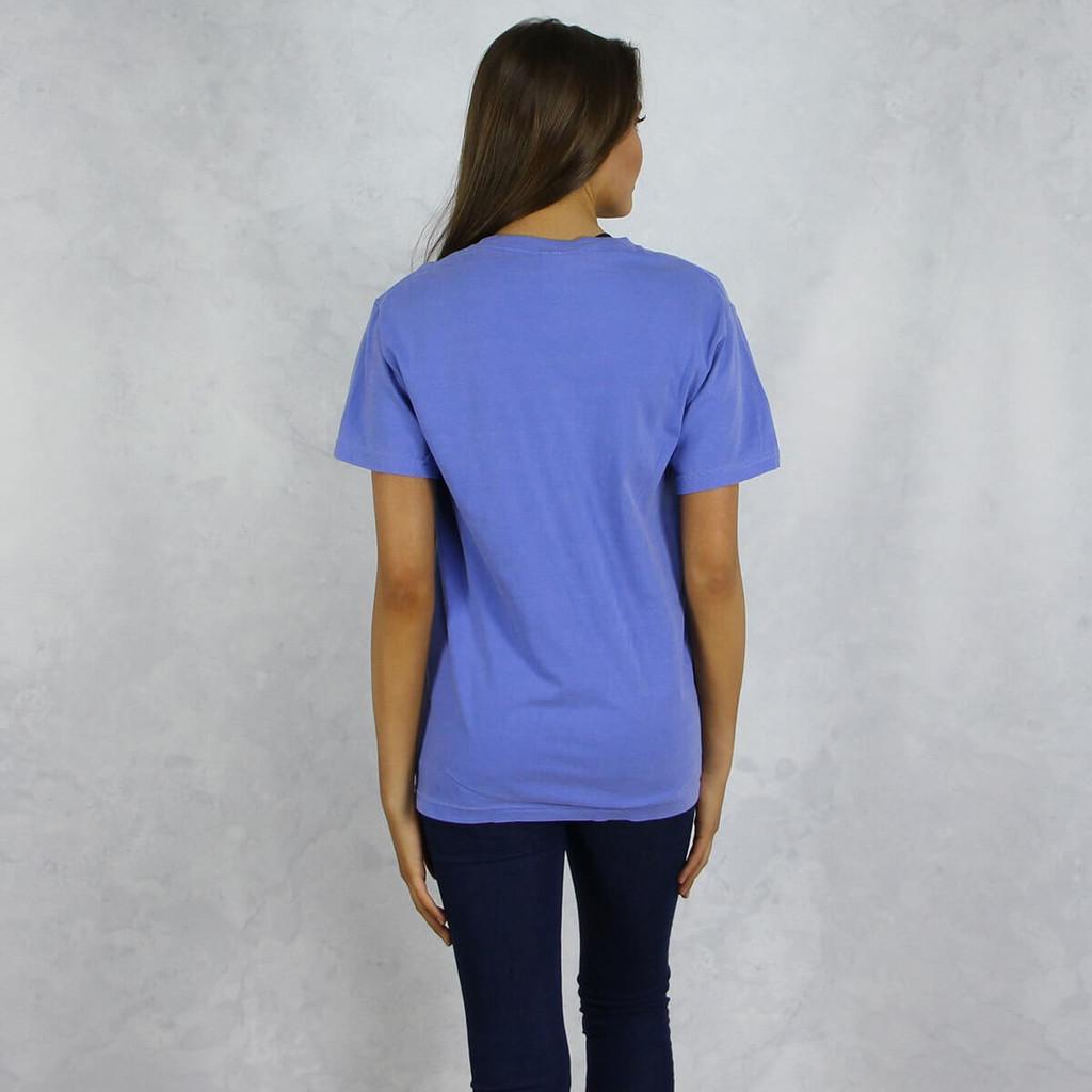 Kappa Alpha Theta Comfort Colors Pocket T-Shirt Back