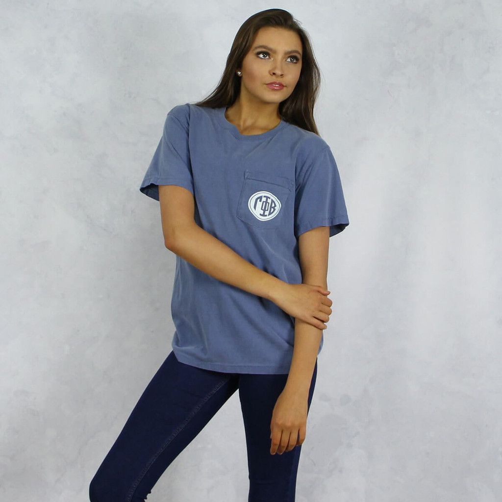 Gamma Phi Beta Comfort Colors Pocket T-Shirt