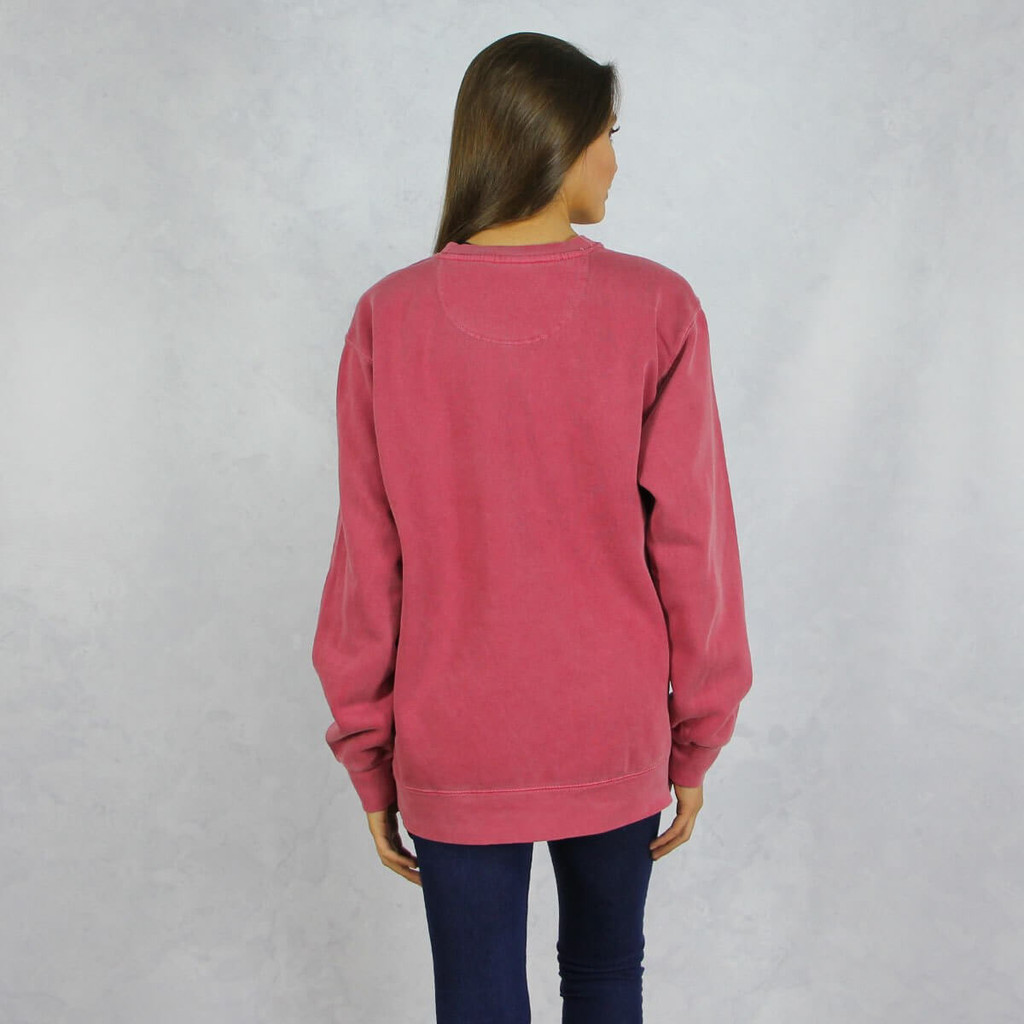 Alpha Chi Omega Comfort Colors Sweatshirt in Red Back