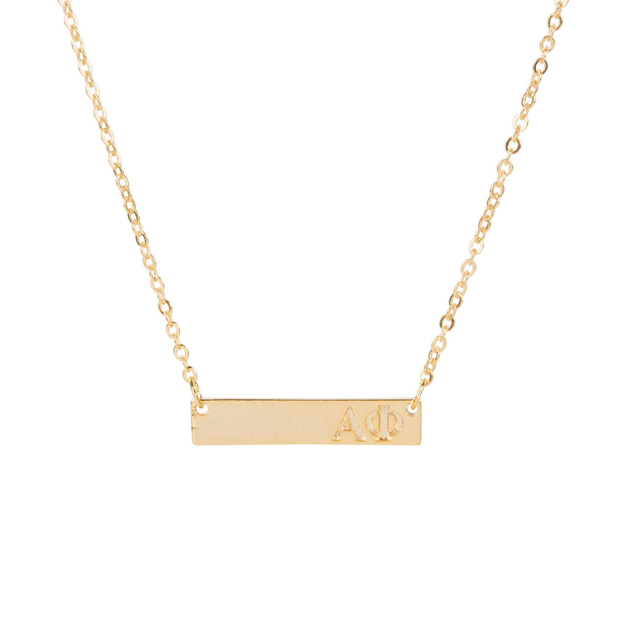Alpha Phi Gold Bar Necklace Sorority Specialties