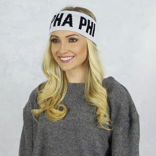 Alpha Phi Reversible Headband and Ear Warmer