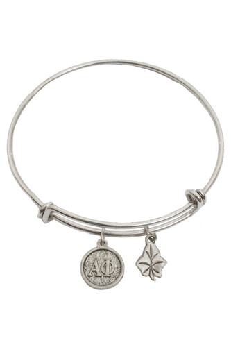 Alpha Phi Expandable Silver Plated Bracelet