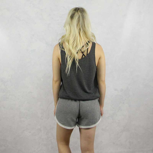 Alpha Chi Omega Shorts in Grey Back