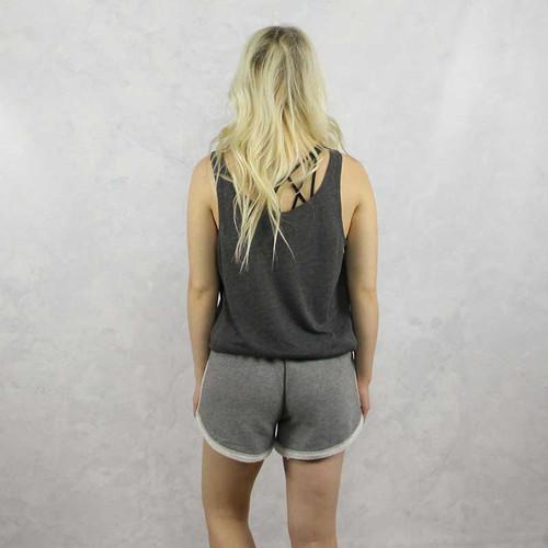 Alpha Phi Shorts in Grey Back