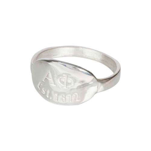 Alpha Phi Silver Ring