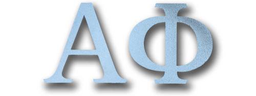 Alpha Phi Letter Sticker in Silver
