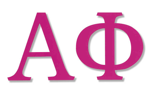 Alpha Phi Jumbo Sticker in Hot Pink