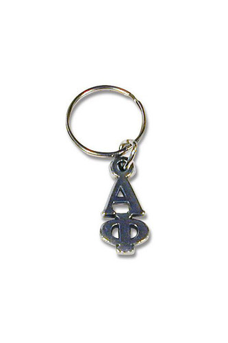 Alpha Phi Keychain in Silver