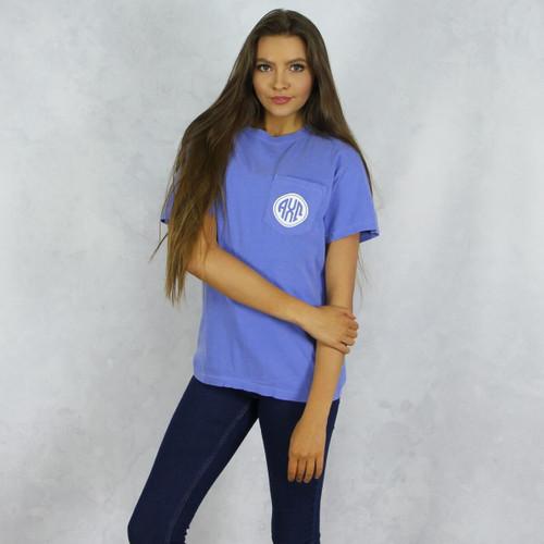 Alpha Chi Omega Comfort Colors Pocket T-Shirt