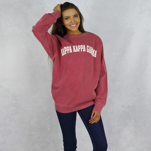 Kappa Kappa Gamma Comfort Colors Sweatshirt in Red