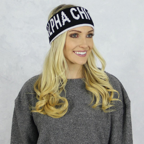 Alpha Chi Omega Reversible Headband and Ear Warmer
