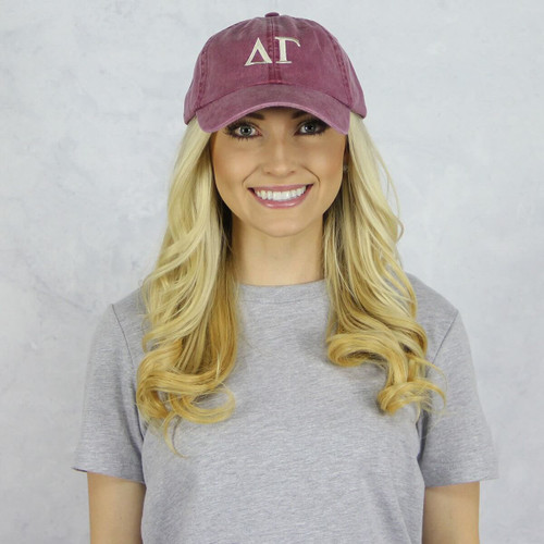 Delta Gamma Baseball Hat in Maroon