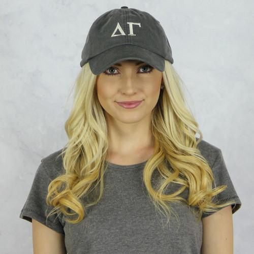 Delta Gamma Baseball Hat in Gray