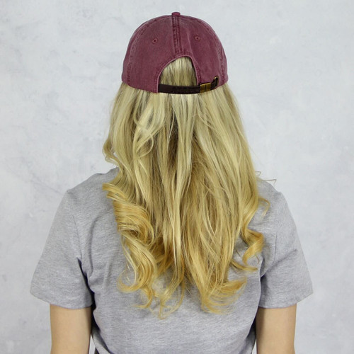 Alpha Chi Omega Baseball Hat in Maroon Back