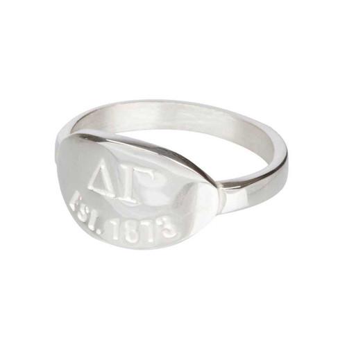 Delta Gamma Silver Ring