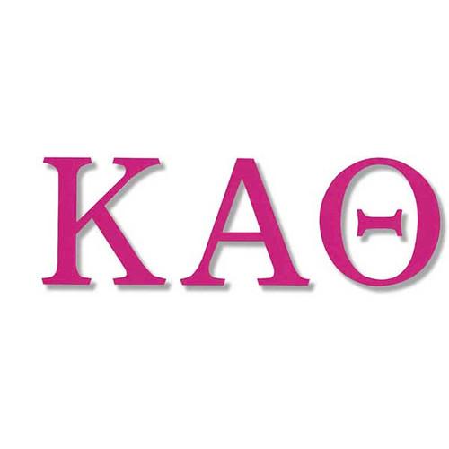 Kappa Alpha Theta Jumbo Sticker in Hot Pink
