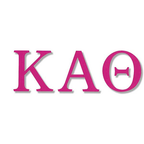 Kappa Alpha Theta Jumbo Sticker in Hot Pink