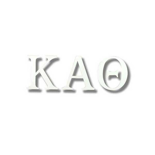 Kappa Alpha Theta White Letter Sticker